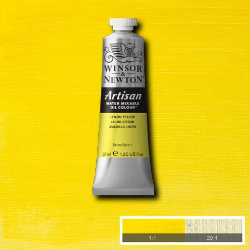 Winsor and Newton Artisan Oil : Water Mixable Oil paint 37 ml : Lemon Yellow