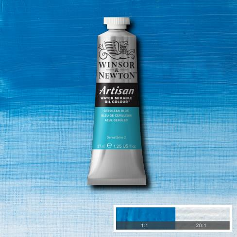 Winsor & Newton Artisan Oil : Water Mixable Oil paint 37 ml : Cerulean Blue