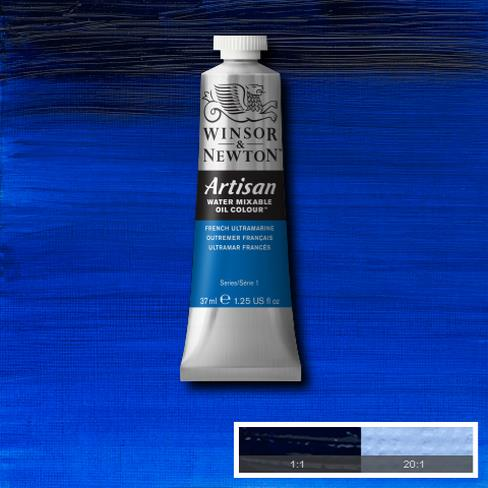 Winsor and Newton Artisan Oil : Water Mixable Oil paint 37 ml : French Ultramarine