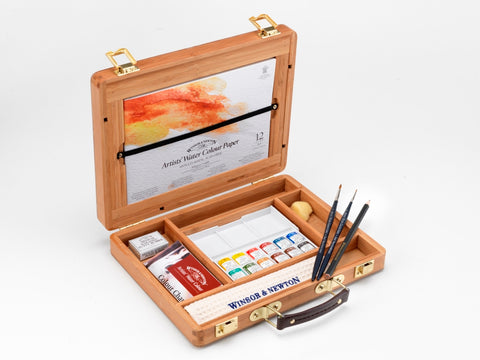 Winsor & Newton : Prefessional water colour Bamboo box : Half Pan