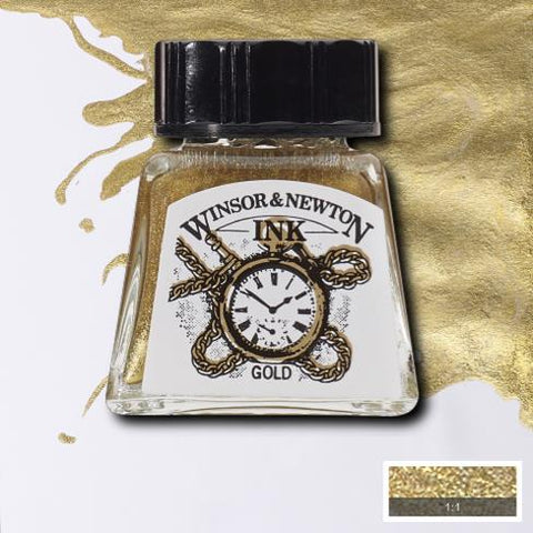WINSOR & NEWTON : DRAWING INK : 14ML : Gold
