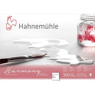 Hahnemühle 'Harmony' Watercolour Block Cold Pressed 12 Sheets 300gsm A4
