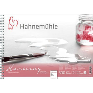 Hahnemühle Harmony Watercolour NOT / Cold Pressed Spiral Bound 300gsm x 12 sheets : A3