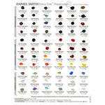 DANIEL SMITH : 66 DOT HAND PAINTED WATERCOLOUR PAINT CHART