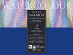 Fabriano: Watercolour Paper Acquarello  300gsm  : NOT/Cold Press : 7 x 9 1/2 inches : 12 Sheets 180x240mm  ( 25% Cotton )