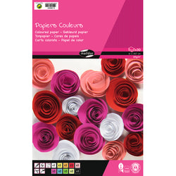 Clairefontaine A4 pad 30 sheets 120g assorted colours