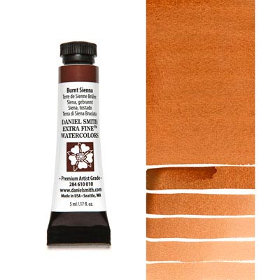 DANIEL SMITH Extra Fine Watercolour : Burnt Sienna 5ml tube
