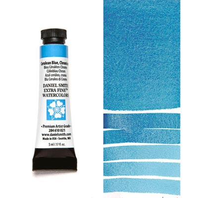 DANIEL SMITH Extra Fine Watercolour : Cerulean Blue Chromium 5ml tube