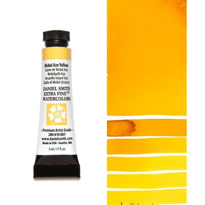 DANIEL SMITH Extra Fine Watercolour : Nickel Azo Yellow 5ml tube