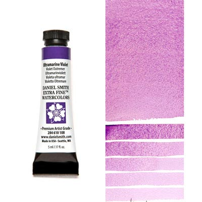 DANIEL SMITH Extra Fine Watercolour : Ultramarine Violet  5ml tube