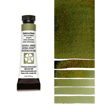 DANIEL SMITH Extra Fine Watercolour : Undersea Green 5ml tube