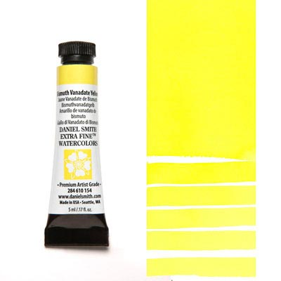 DANIEL SMITH Extra Fine Watercolour : Bismuth Vanadate Yellow 5ml tube