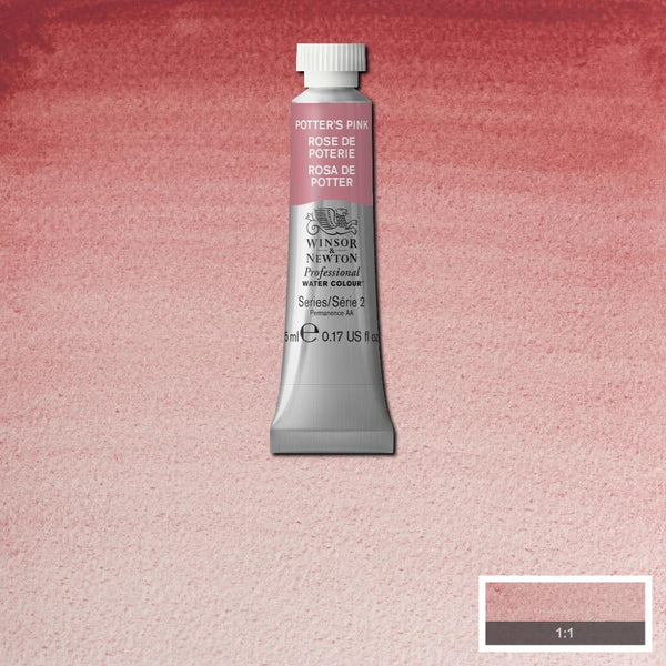 Winsor & Newton Professional Watercolour Paint 5ml : Potter's Pink