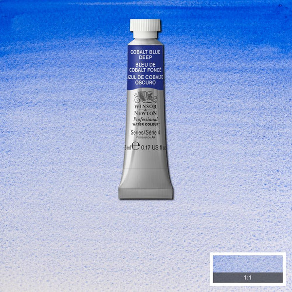 Winsor & Newton Professional Watercolour Paint 5ml : Cobalt Blue Deep