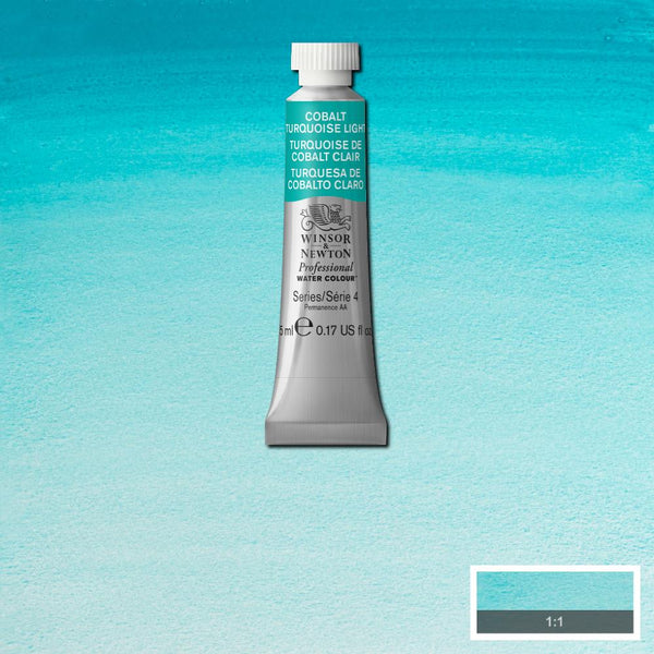 Winsor & Newton Professional Watercolour Paint 5ml : Cobalt Turquoise Light