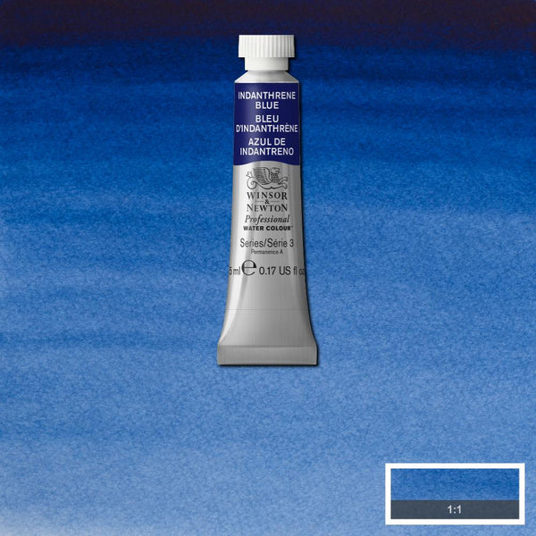 Winsor & Newton Professional Watercolour Paint 5ml : Indanthrene Blue