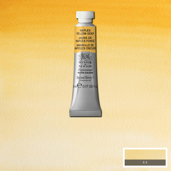 Winsor & Newton Professional Watercolour Paint 5ml : Naples Yellow Deep