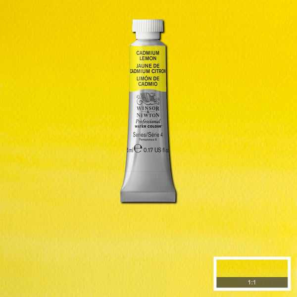 Winsor & Newton Professional Watercolour Paint 5ml : Cadmium Yellow