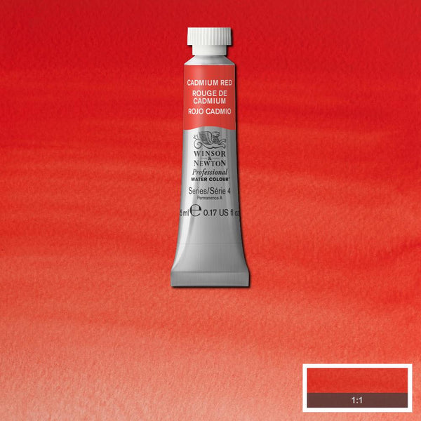 Winsor & Newton Professional Watercolour Paint 5ml : Cadmium Red