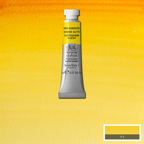 Winsor & Newton Professional Watercolour Paint 5ml : New Gamboge