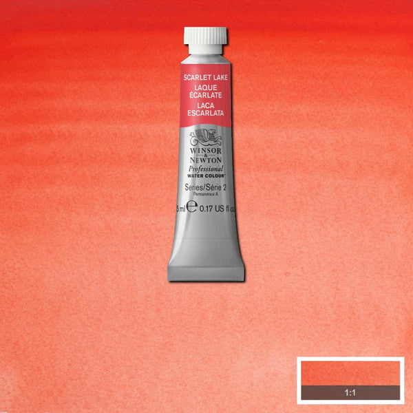 Winsor & Newton Professional Watercolour Paint 5ml : Scarlet LakeWinsor & Newton Professional Watercolour Paint 5ml : Scarlet Lake
