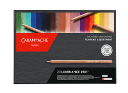 Caran d'Ache Luminance NEW COLOURS Artist Colours : 24  individual Pencils & Free newly designed blender
