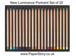 Luminance New colours 20 colour pencil NEW Portrait Set Caran d'Ache