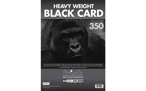 The heavy weight surface can handle all sorts of techniques so is ideal for exploring ideas and textures.   Each pad contains 20 sheets of 350gsm black card.