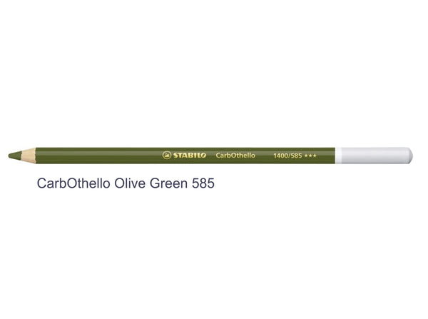 Olive green 585 STABILO CarbOthello chalk-pastel pencils