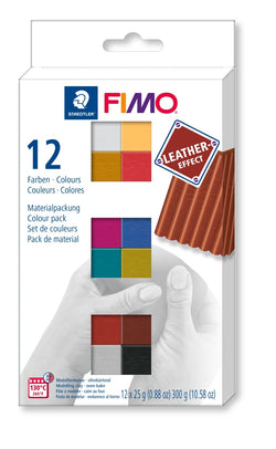 Steadtler : Fimo Leather Effects : Pack of 12