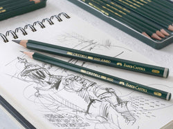 Faber-Castell : Castell 9000 Jumbo graphite pencil : Tin of five
