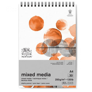 Winsor & Newton's new mixed media paper is versatile and multipurpose. a4 mixed media pad