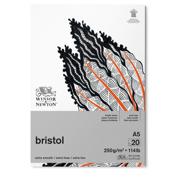 NEW Winsor & Newton Bristol board paper Extra Smooth 250g/m 20 sheets A5