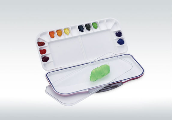 Mijello Watercolour Palette Blue Fusion 18 individual wells with removable tray