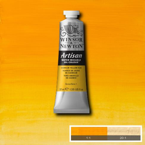 Winsor and Newton Artisan Oil : Water Mixable Oil paint 37 ml : Cadmium Yellow Hue