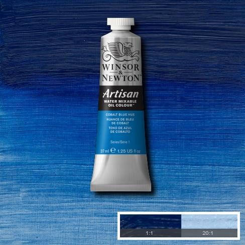 Winsor and Newton Artisan Oil : Water Mixable Oil paint 37 ml : Cobalt Blue Hue