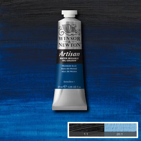 Winsor and Newton Artisan Oil : Water Mixable Oil paint 37 ml : Prussian Blue
