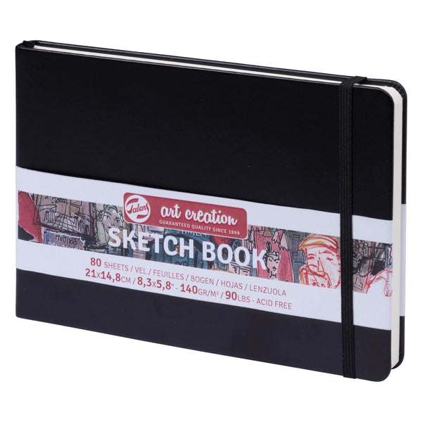 Royal Talens : Sketchbook Black Cover 14.8 X21 cm, 140 g/m². 80 sheets