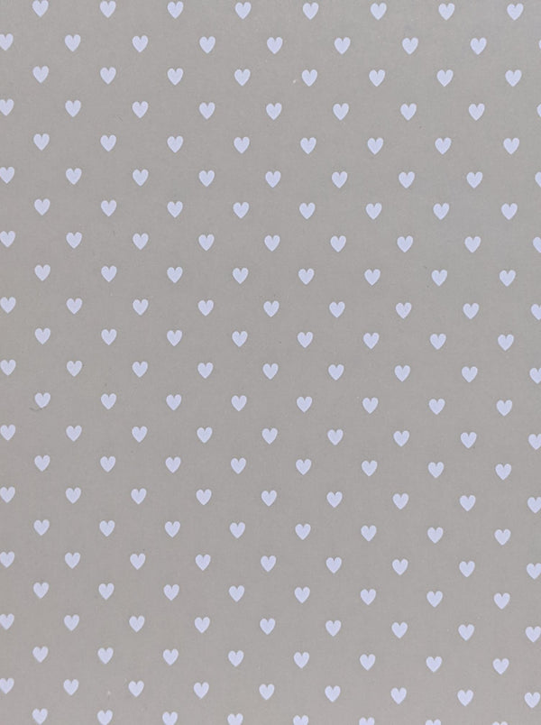 A4 Smooth card 280 gsm : White heart pattern