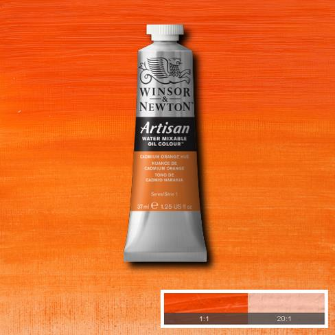 Winsor and Newton Artisan Oil : Water Mixable Oil paint 37 ml : Cadmium Orange Hue