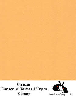 Canson Mi Teintes acid free, Canary warm orange sunset yellow, hammered texture honeycomb surface paper 160 gsm. This is a popular and classic paper for all artists especially well respected for Pastel  and Papercutting made famous by Paper Panda. This paper has a honeycombed finish one side and fine grain the other. An authentic art paper, acid free with a  very high 50% cotton content. Canson Mi-Teintes complies with the ISO 9706 standard on permanence, a guarantee of excellent conservation