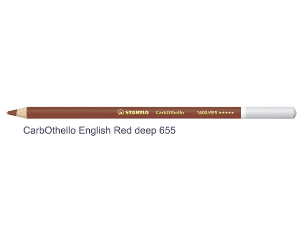 English red 655 STABILO CarbOthello chalk-pastel pencils