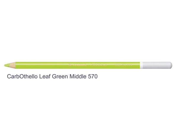 Leaf green middle 570 STABILO CarbOthello chalk-pastel pencils