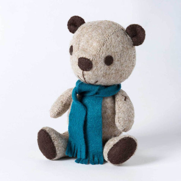 Corinne Lapierre : Vintage Teddy Felt Craft Kit  Everything you need to make one huggable Vintage Teddy is in the box, yes, even plenty of bouncy toy filling to make him extra cuddly.