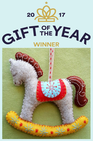 Corinne Lapierre : Rocking Horses Felt Craft Kit  Corinne Lapierre : Gift of the Year 2017 craft kit!