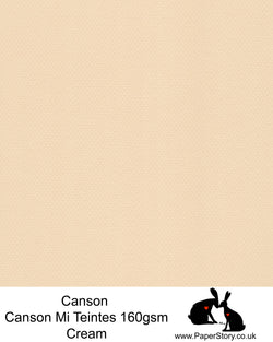 Canson Mi Teintes acid free, classic cream, hammered texture honeycomb surface paper 160 gsm. This is a popular and classic paper for all artists especially well respected for Pastel  and Papercutting made famous by Paper Panda. This paper has a honeycombed finish one side and fine grain the other. An authentic art paper, acid free with a  very high 50% cotton content. Canson Mi-Teintes complies with the ISO 9706 standard on permanence, a guarantee of excellent conservation
