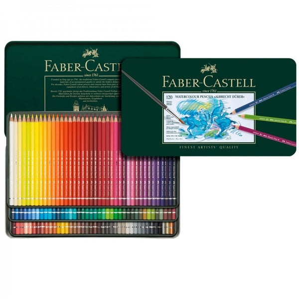 FABER CASTELL Albrecht Dürer Watercolour Artists Pencils tin of  120