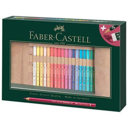 New FABER CASTELL  Polychromos Artists Colour Pencil Roll set of 34