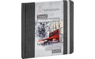 Hahnemühle Toned Grey Watercolour Book 14 x 14 cm  x 60 pages
