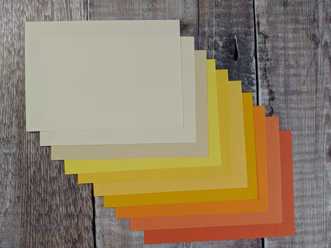 Orange / Yellow collection  Paper 160 gsm : 10 tones